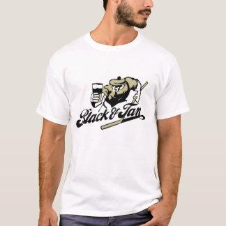 T-shirt noir et bronzage