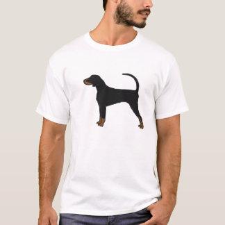 T-shirt noir et bronzage de Coonhound
