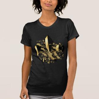 T-shirt Noir et Gold Fleur de Lis