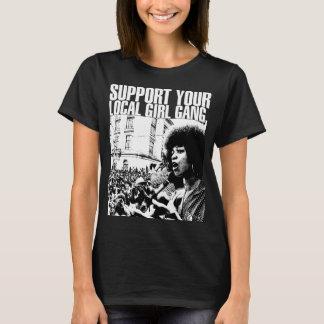 T-shirt Noir Féminin Ativismo Féministe