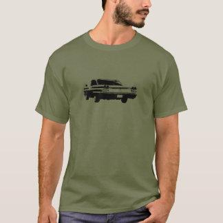 T-shirt Noir image de schéma de l'arrière 1960 de coupé de