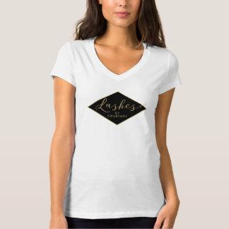 T-shirt Noir/or de salon de mèche personnalisé