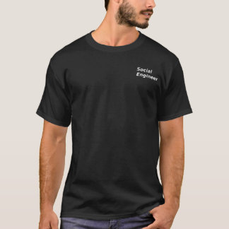T-shirt noir social d'ingénieur