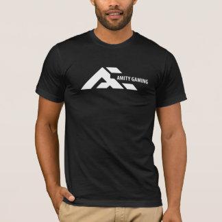 T-shirt noir T de jeu d'amitié