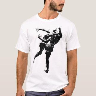T-shirt Noir thaïlandais/blanc de Muay