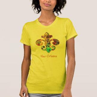 T-shirt NOLA a peint Fleur de lis (4)