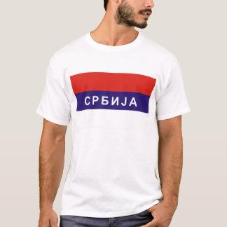 T-shirt nom cyrillique russe des textes de pays de drapeau