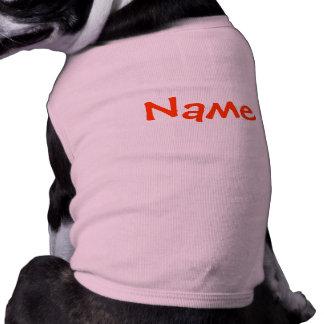 T-shirt Nom de do-it-yourself - rose de débardeur