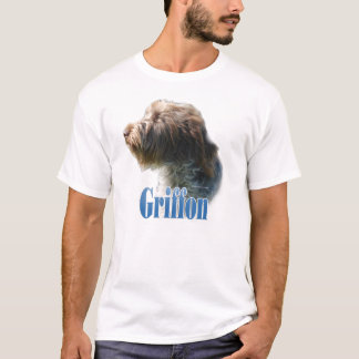 T-shirt Nom de griffon de pointage à poils durs