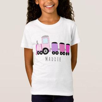 T-Shirt Nom locomotif rose du train de la fille