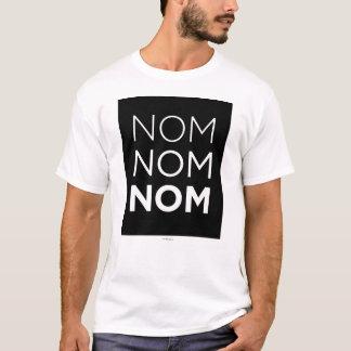 T-shirt Nom noir Nom Nom