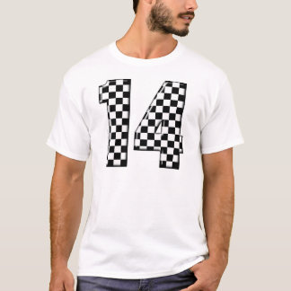 T-shirt nombre checkered de l'emballage 14 automatique