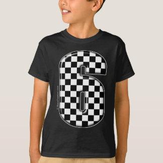 T-shirt nombre checkered de l'emballage 6 automatique