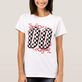 T-shirt nombre checkered du drapeau 00