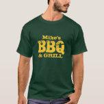 T-shirt nommé personnalisé de BBQ pour des types