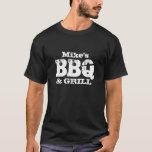 T-shirt nommé personnalisé de BBQ pour les hommes