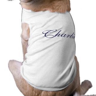 T-shirt nommé personnalisé d'habillement de chien