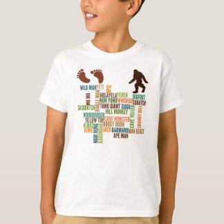 T-shirt Noms pour Bigfoot