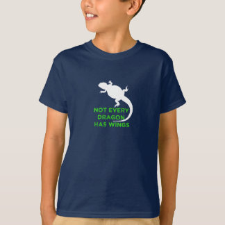 T-shirt Non chaque dragon a des ailes - vert