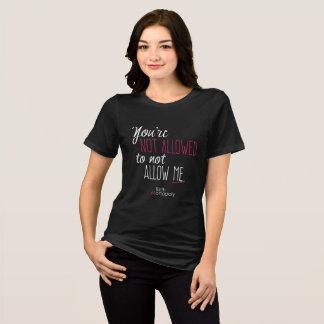 """T-shirt """"Non laissé"""" a détendu la pièce en t convenable du"""