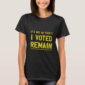 T-shirt Non mon défaut (jaune)