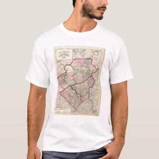 T-shirt Northampton, carbone, Monroe, comtés de Lehigh