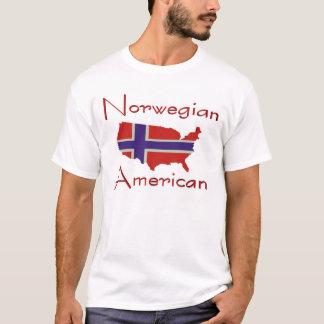 T-shirt norvégien de carte d'American/USA