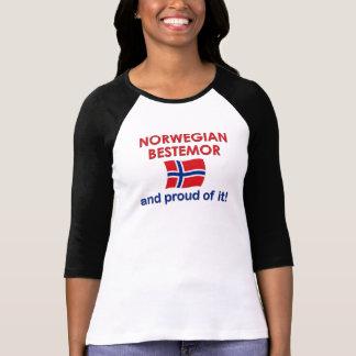 T-shirt Norvégien fier Bestemor (grand-mère)