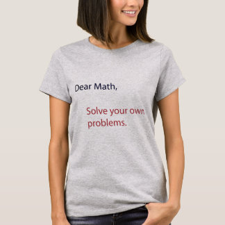 T-shirt Note aux maths