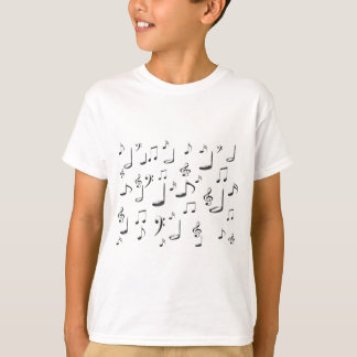 T-SHIRT NOTES DE MUSIQUE