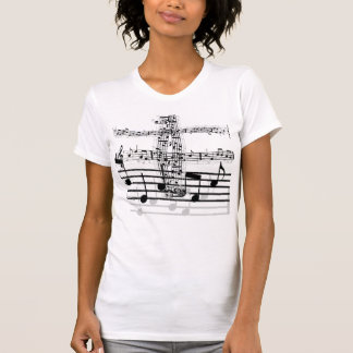 T-shirt notes de musique, notes de musique, notes de