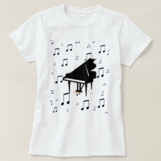 T-shirt Notes de piano à queue et de musique