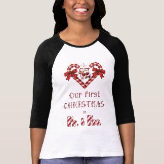 T-shirt Notre premier Noël comme M. et Mme sucre de canne