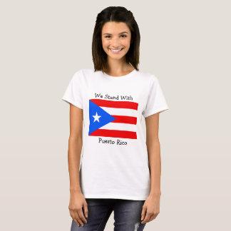 T-shirt Nous nous tenons avec la chemise de drapeau de