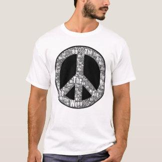 T-shirt Nous sommes le signe, le noir et le blanc de paix