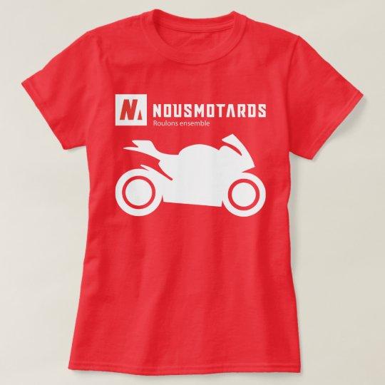 T-Shirt Nousmotards Femme Sportive