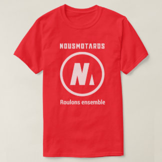 T-Shirt Nousmotards Homme Rouge