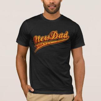 T-shirt Nouveau papa 2014 bouclé
