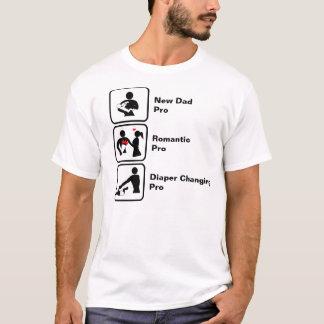 T-shirt Nouveau papa, romantique, changement de