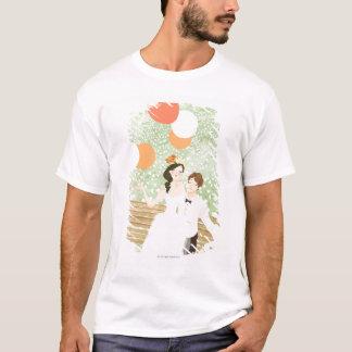 T-shirt Nouveaux mariés sur une branche de jardin