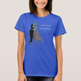 T-shirt Nouveaux mariés vintages d'art déco, danse de