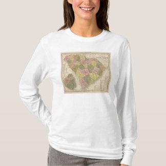 T-shirt Nouvelle carte de la Caroline du Sud 2