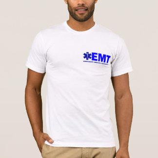 T-shirt Nouvelle chemise Bleu-en lettres de devoir-style