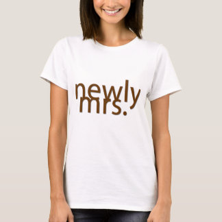 T-shirt nouvellement Mme. - brun