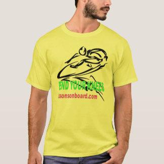 """T-shirt Nouvelles """"leçons à bord"""" de logo original"""