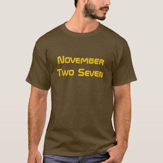 T-shirt Novembre deux sept
