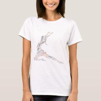 T-shirt Nuage de mot de danse