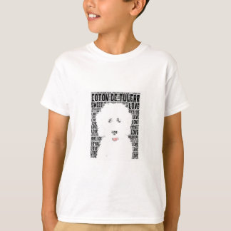 T-shirt Nuage de Tulear Word de coton
