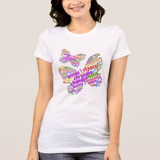 T-shirt Nuage élégant inspiré d'étiquette de papillon