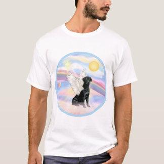 T-shirt Nuages - ange noir de labrador retriever